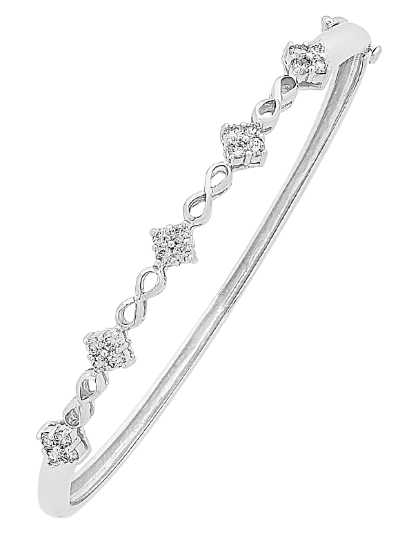 Diamond Bangle - White Gold Diamond Set Bangle - 756692 - Salera's Melbourne, Victoria and Brisbane, Queensland Australia