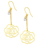 Gold Fusion Earrings - Gold Flower Hook Earrings - 756719 - Salera's Melbourne, Victoria and Brisbane, Queensland Australia - 1