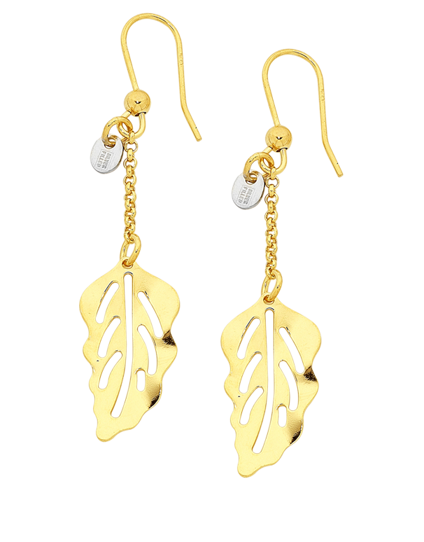 Gold Fusion Earrings - Gold Leaf Hook Earrings - 756731 - Salera's Melbourne, Victoria and Brisbane, Queensland Australia - 1
