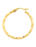 Gold Earrings - Yellow Gold Hoop Earrings - 756735 - Salera's Melbourne, Victoria and Brisbane, Queensland Australia - 2