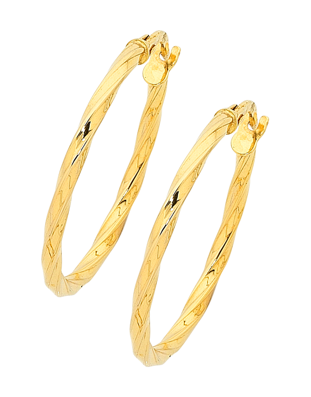 Gold Earrings Yellow Gold Hoop Earrings