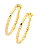 Gold Earrings - Yellow Gold Hoop Earrings - 756735 - Salera's Melbourne, Victoria and Brisbane, Queensland Australia - 1