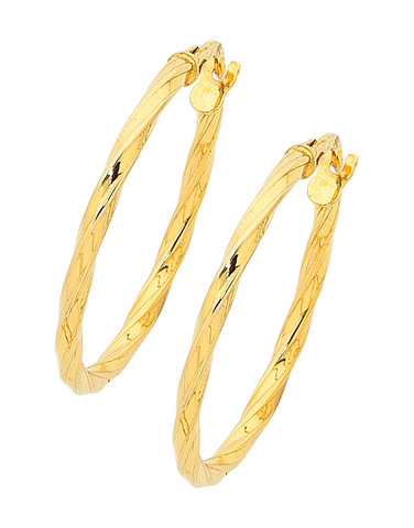 Gold Earrings - Yellow Gold Hoop Earrings - 756735