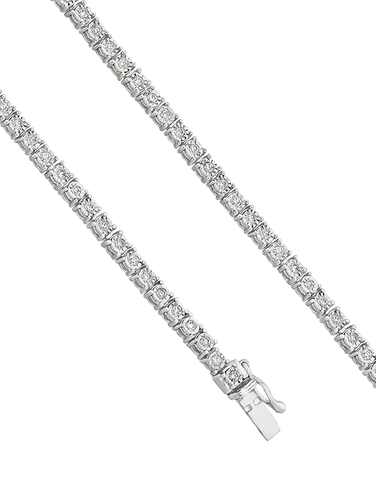Diamond Bracelet - Diamond Set Tennis Bracelet - 756741