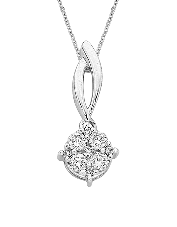 Diamond Pendant - White Gold Diamond Pendant - 756742 - Salera's Melbourne, Victoria and Brisbane, Queensland Australia