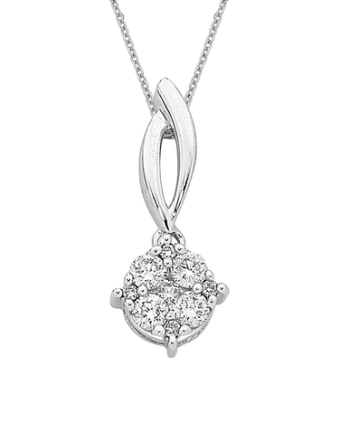 Diamond Pendant - White Gold Diamond Pendant - 756742