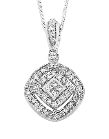 Diamond Pendant - White Gold Diamond Pendant - 756752