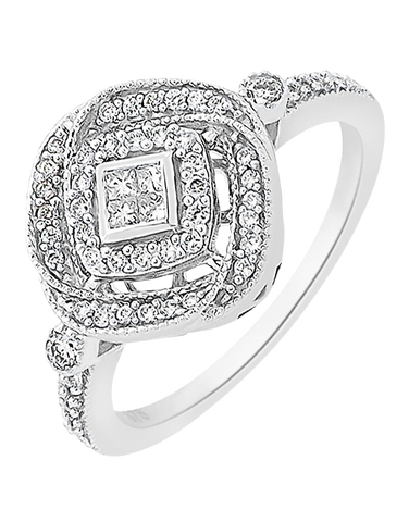 Diamond Ring - White Gold Diamond Ring - 756753