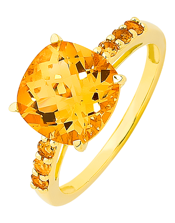 Citrine Ring - Yellow Gold Citrine Ring - 756800 - Salera's Melbourne, Victoria and Brisbane, Queensland Australia