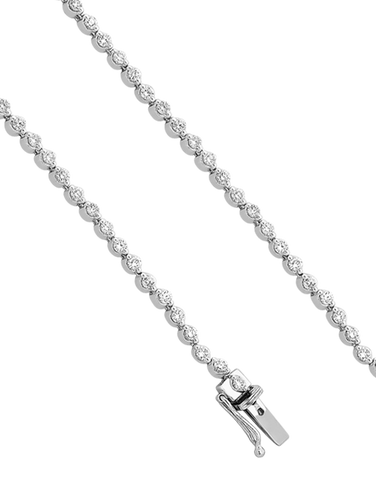 Diamond Bracelet - Diamond Set Tennis Bracelet - 756948