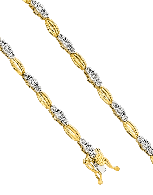 Diamond Bracelet - Yellow Gold Diamond Set Bracelet - 756949 - Salera's Melbourne, Victoria and Brisbane, Queensland Australia