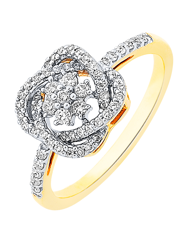 Diamond Ring - Two Tone Gold Diamond Ring - 756953 - Salera's Melbourne, Victoria and Brisbane, Queensland Australia