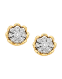 Diamond Earrings - Diamond Set Yellow Gold Studs - 756957 - Salera's Melbourne, Victoria and Brisbane, Queensland Australia - 1