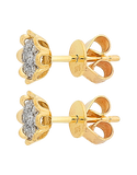 Diamond Earrings - Diamond Set Yellow Gold Studs - 756957 - Salera's Melbourne, Victoria and Brisbane, Queensland Australia - 2