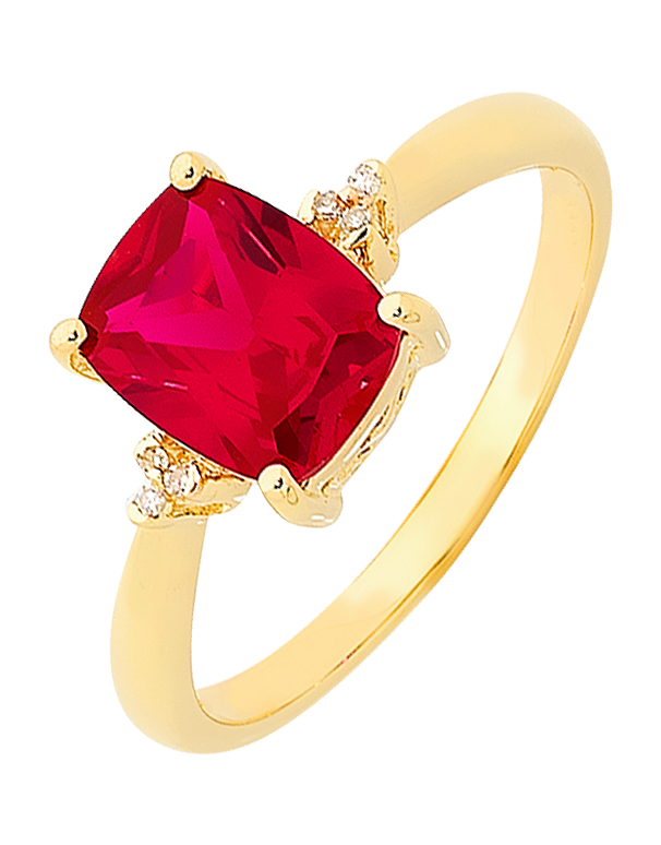 Ruby Ring - Yellow Gold Ruby and Diamond Ring - 757019 - Salera's Melbourne, Victoria and Brisbane, Queensland Australia