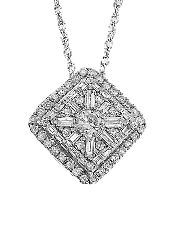 Diamond Pendant - White Gold Diamond Pendant - 758197 - Salera's