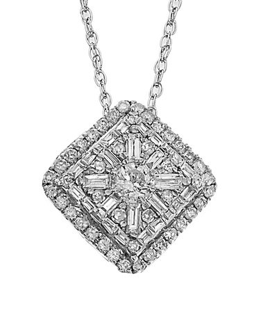 Diamond Pendant - White Gold Diamond Pendant - 758197