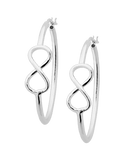 Silver Earrings - Sterling Silver Infinity Hoops - 758214 - Salera's Melbourne, Victoria and Brisbane, Queensland Australia - 1