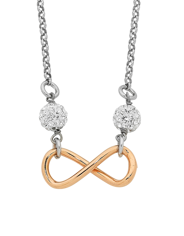 Silver Necklace - Sterling Silver Infinity Necklet - 758218 - Salera's Melbourne, Victoria and Brisbane, Queensland Australia