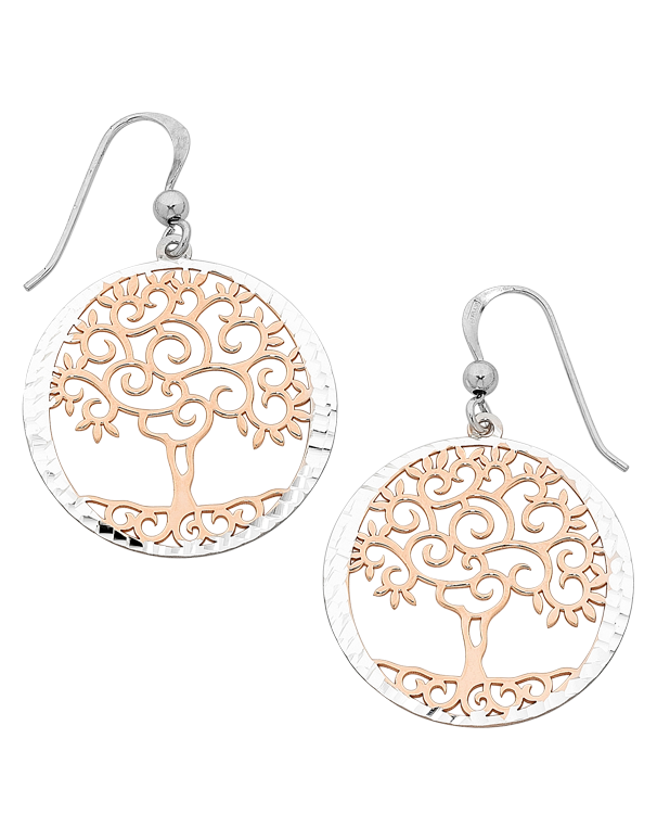 Silver Earrings - Sterling Silver Tree of Life Earrings - 758225 - Salera's Melbourne, Victoria and Brisbane, Queensland Australia