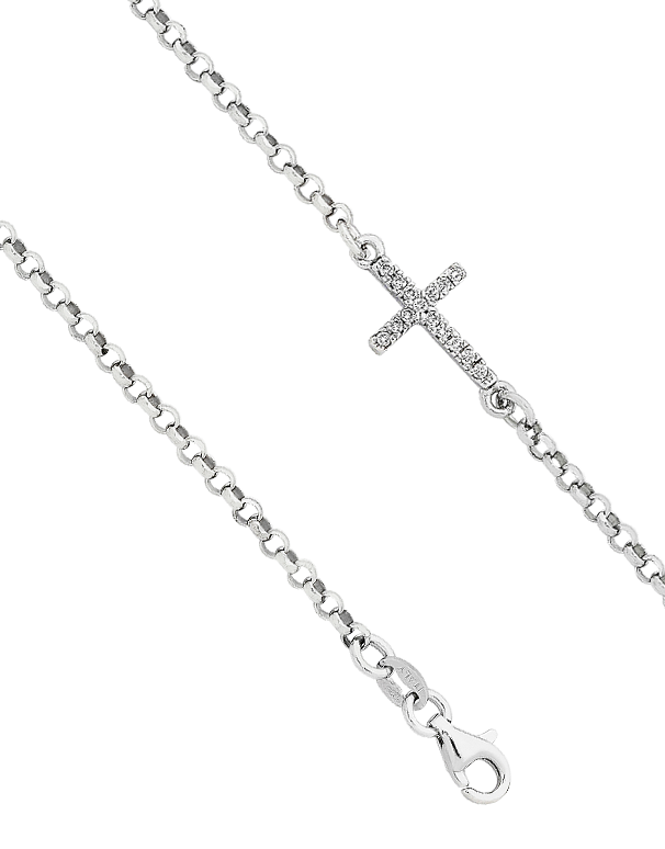 Silver Bracelet - Sterling Silver Cross Bracelet - 758392 - Salera's Melbourne, Victoria and Brisbane, Queensland Australia