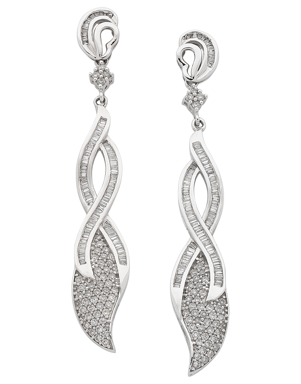 Diamond Earrings - Diamond Set White Gold Earrings - 758485 - Salera's Melbourne, Victoria and Brisbane, Queensland Australia