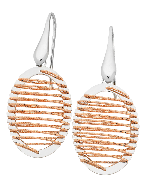 Mode d'Amelie - Sterling Silver Two Tone Earrings - 758627 - Salera's Melbourne, Victoria and Brisbane, Queensland Australia