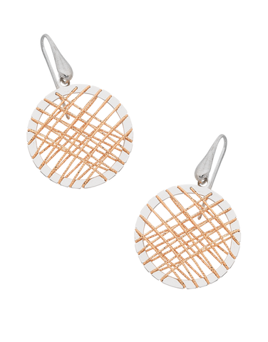 Mode d'Amelie - Sterling Silver Two Tone Earrings - 758629