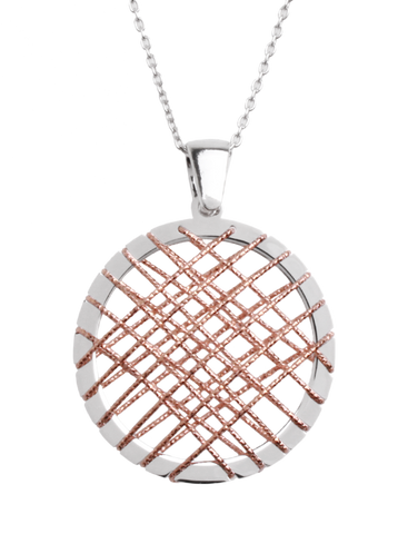 Mode d'Amelie - Sterling Silver Two Tone Pendant - 758630
