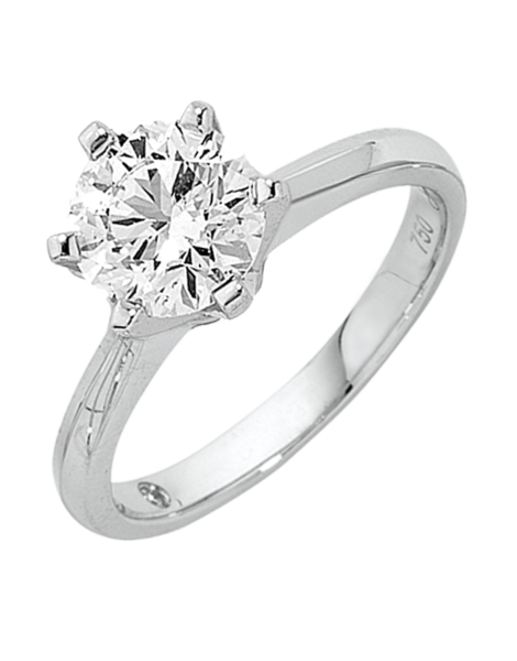 Diamond Ring - 1.00ct Round Brilliant Solitaire Engagement Ring - 758748 - Salera's Melbourne, Victoria and Brisbane, Queensland Australia