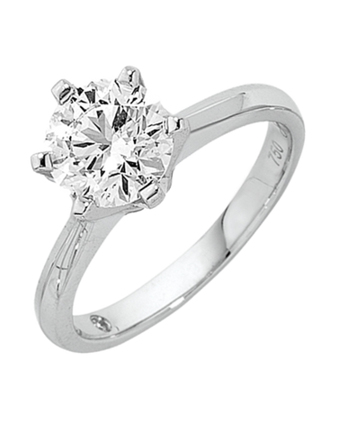 Diamond Ring - 1.00ct Round Brilliant Solitaire Engagement Ring - 758748