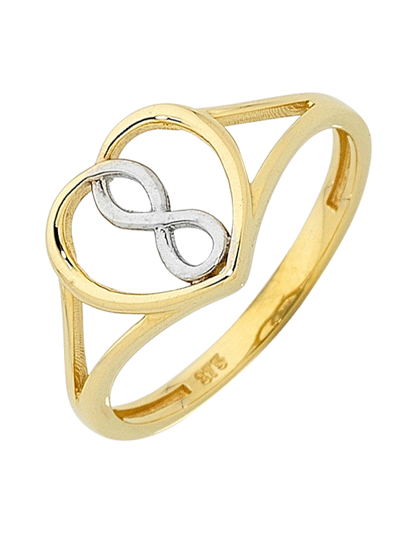 Gold Ring - Two Tone Gold Infinity Ring - 758751 - Salera's Melbourne, Victoria and Brisbane, Queensland Australia