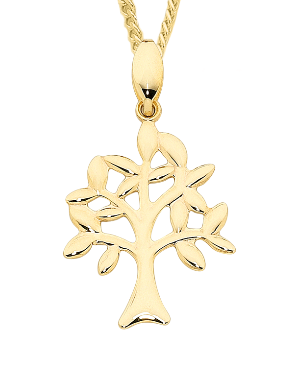 Gold Pendant - Yellow Gold Tree of Life Pendant - 758869 - Salera's Melbourne, Victoria and Brisbane, Queensland Australia
