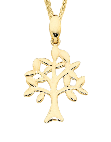 Gold Pendant - Yellow Gold Tree of Life Pendant - 758869