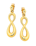 Gold Earrings - Yellow Gold Infinity Earrings - 758872 - Salera's Melbourne, Victoria and Brisbane, Queensland Australia - 2
