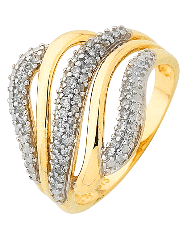 Diamond Ring - Yellow Gold Diamond Ring - 758928 - Salera's Melbourne, Victoria and Brisbane, Queensland Australia