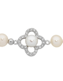 Pearl Bracelet - Sterling Silver Pearl and CZ Bracelet - 759270 - Salera's Melbourne, Victoria and Brisbane, Queensland Australia - 2
