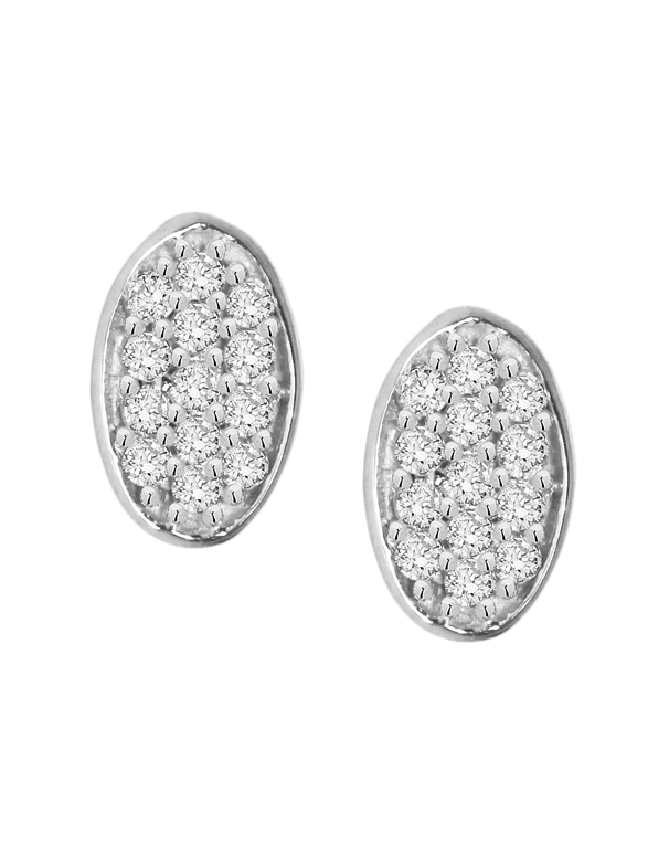 Diamond Studs - Diamond Cluster Stud Earrings - 759317 - Salera's Melbourne, Victoria and Brisbane, Queensland Australia