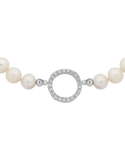 Pearl Bracelet - Sterling Silver Pearl and CZ Bracelet - 759447 - Salera's Melbourne, Victoria and Brisbane, Queensland Australia - 2