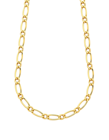 Gold Fusion Chain - Men's 55cm 1-1 Figaro Chain - 759474