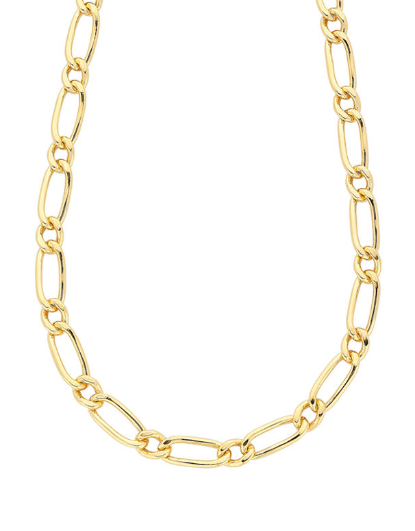 Salera's Gold Fusion Chain - Men's 55cm 1-1 Figaro Chain - 759479