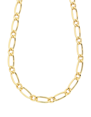 Gold Fusion Chain - Men's 55cm 1-1 Figaro Chain - 759479