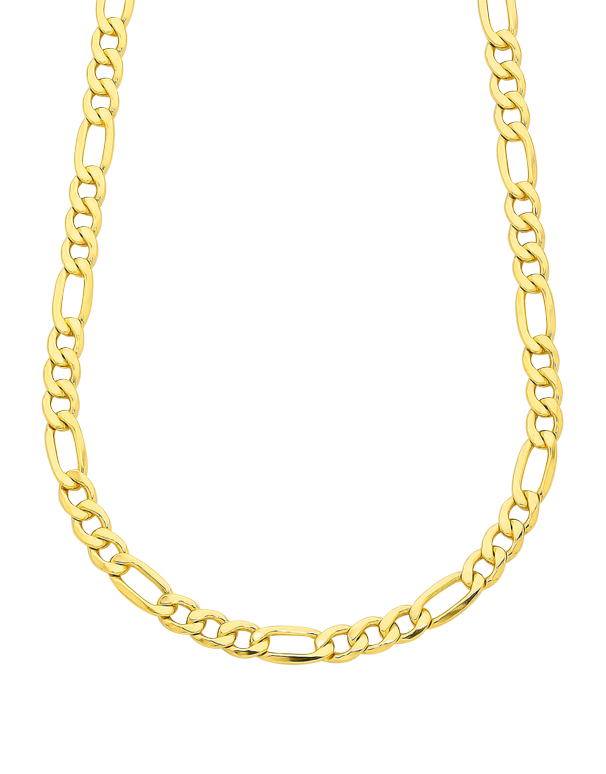 Gold Fusion Chain - Men's 55cm 3-1 Figaro Chain - 759480 - Salera's Melbourne, Victoria and Brisbane, Queensland Australia - 1