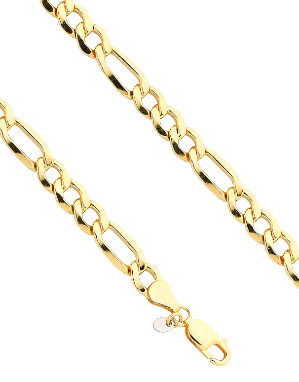 Gold Fusion Bracelet - Men's 3-1 Figaro Bracelet - 759482 - Salera's Melbourne, Victoria and Brisbane, Queensland Australia