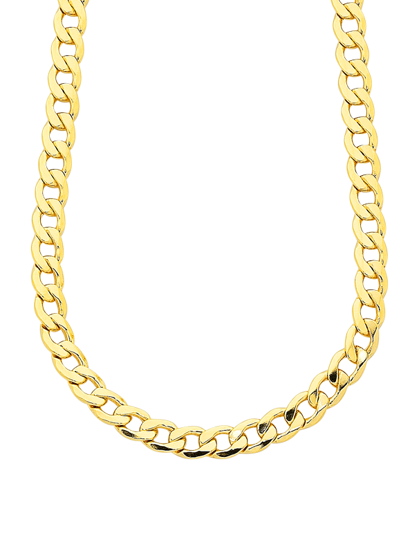 Gold Fusion Chain - Men's 55cm Curb Chain - 759485 - Salera's Melbourne, Victoria and Brisbane, Queensland Australia - 1