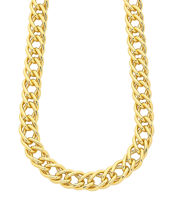 Gold Fusion Chain - Men's 55cm Double Curb Chain - 759489 - Salera's Melbourne, Victoria and Brisbane, Queensland Australia - 1