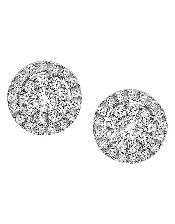 Diamond Studs - 1/2 Carat Diamond Cluster Studs - 759494 - Salera's Melbourne, Victoria and Brisbane, Queensland Australia