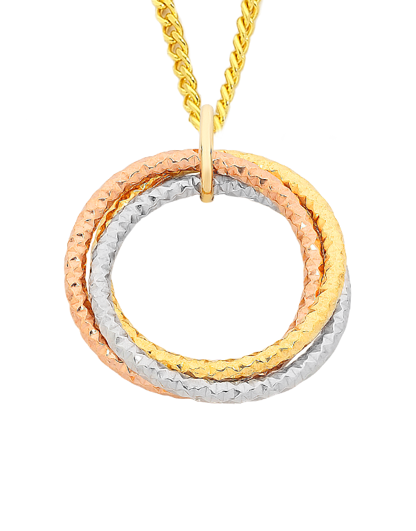 Gold Fusion Pendant - Three Tone Pendant - 759501 - Salera's Melbourne, Victoria and Brisbane, Queensland Australia