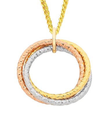 Gold Fusion Pendant - Three Tone Pendant - 759501