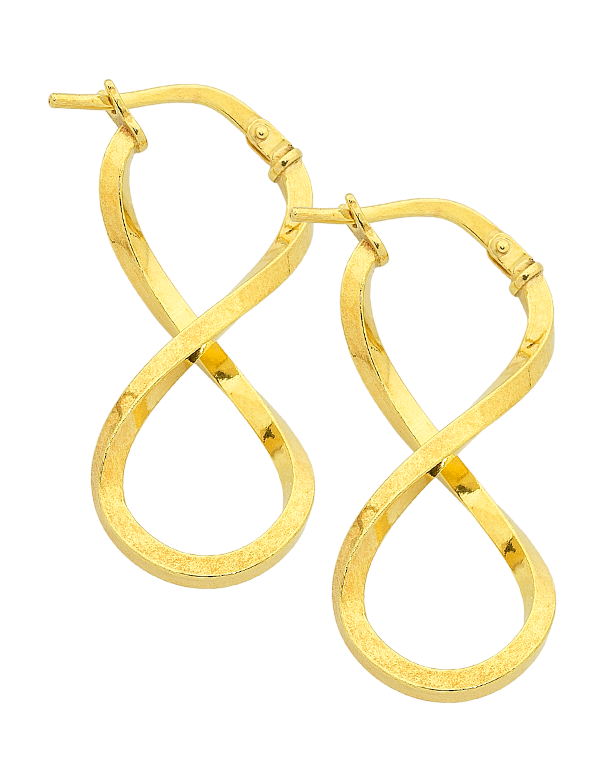 Gold Fusion Earrings - Gold Infinity Hoop Earrings - 759503 - Salera's Melbourne, Victoria and Brisbane, Queensland Australia